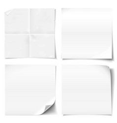 White sticky notes vector