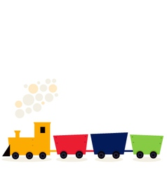 Colorful Train in fresh colors isolated on white vector image vector image