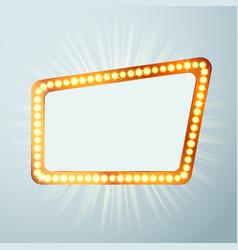 night retro cinema circus announcement light show vector image