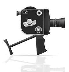 old retro vintage movie video camera 05 vector image vector image