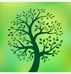 Organic green tree eco emblem vector image vector image