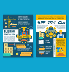Poster for house building construction vector