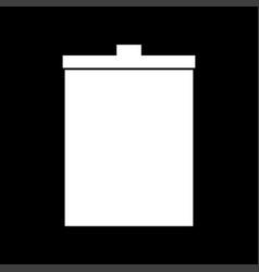 trash bucket the white color icon vector image