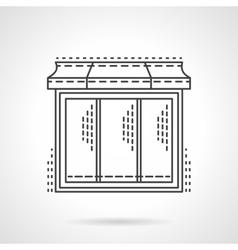 Glass showcase thin line icon vector image