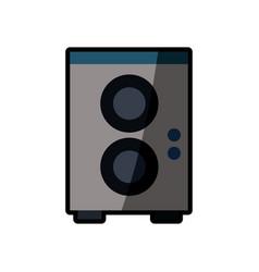 speaker sound audio shadow vector image