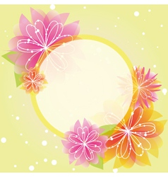 springtime colorful flowers vector image vector image