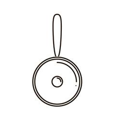 stylish flat design icon kitchen utensils vector image