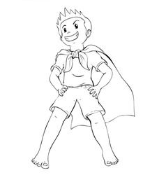 Superhero Kid vector image