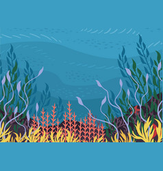 underwater nature background vector image