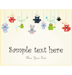 Baby postcard with animals vector image