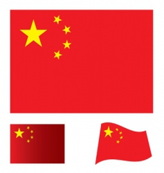 china flag set vector image vector image