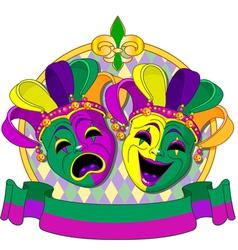 Mardi Gras Masks design vector image vector image