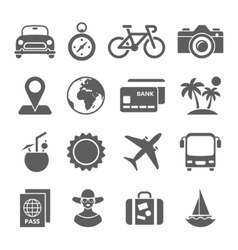 Traveling and transport icons for Web Mobile App vector image