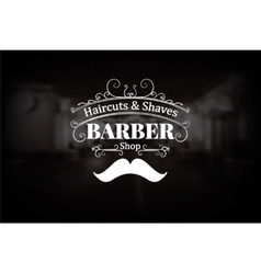 Vintage barber shop logo vector image vector image