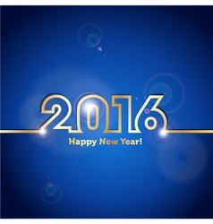 2016 happy new year blue background with spot vector