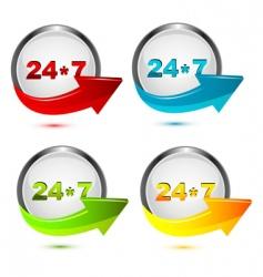 247 icon vector image