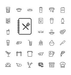 33 restaurant icons vector