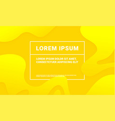 abstract yellow background with soft fluid color vector image