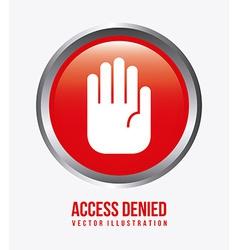 Access denied design vector