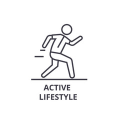 active lifestyle thin line icon sign symbol vector image