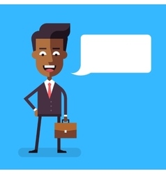 African american businessman with a briefcase vector