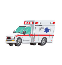 ambulance car on white vector image