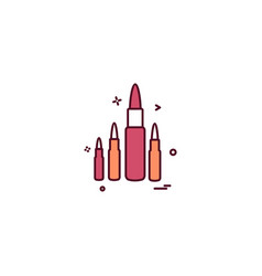 Ammo bullet military round shoot icon design vector
