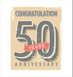 Anniversary banner collection 50 years vector