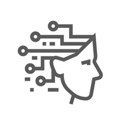 Artificial intelligence line icon vector