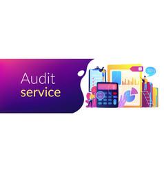 audit service concept banner header vector image