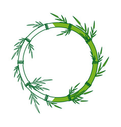 Bamboo forest set spa frame nature plant tree vector