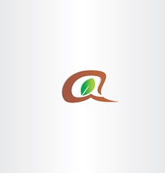 branch and leaf letter a logo vector image