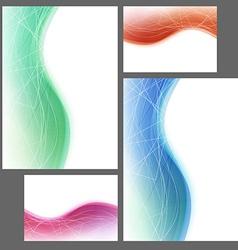 Brochure abstract template swoosh wave lines vector