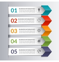 Business infographics design paper arrow template vector image