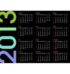 Calendar 2013 4 vector