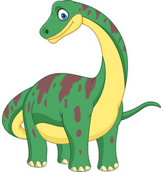 cartoon brontosaurus isolated on white background vector image