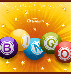 christmas bingo balls festive background vector image