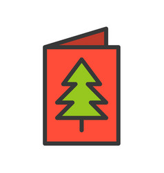 christmas card christmas related style design vector image