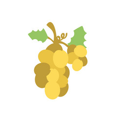 Christmas grape icon flat vector