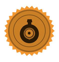 Circular frame with contour sawtooth with video vector