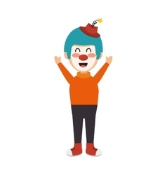 Circus clown character isolated icon vector