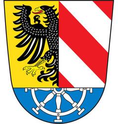 Coat arms nuremberg land in bavaria of vector