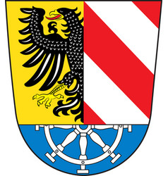 coat of arms of nuremberg land in bavaria of vector image