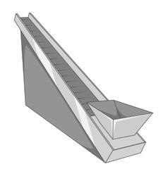 Conveyor machine icon gray monochrome style vector