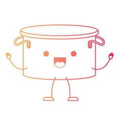 Cooking pot without lid cartoon in degraded red vector