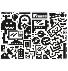 devices - background vector image