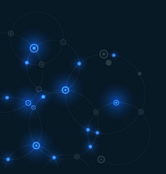 digital glow effect lines circle connect vector image