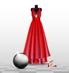 Dummy in the red evening dress vector