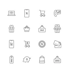 e-commerce icon business shopping purchase retail vector image