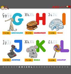 educational cartoon alphabet letters set for vector image